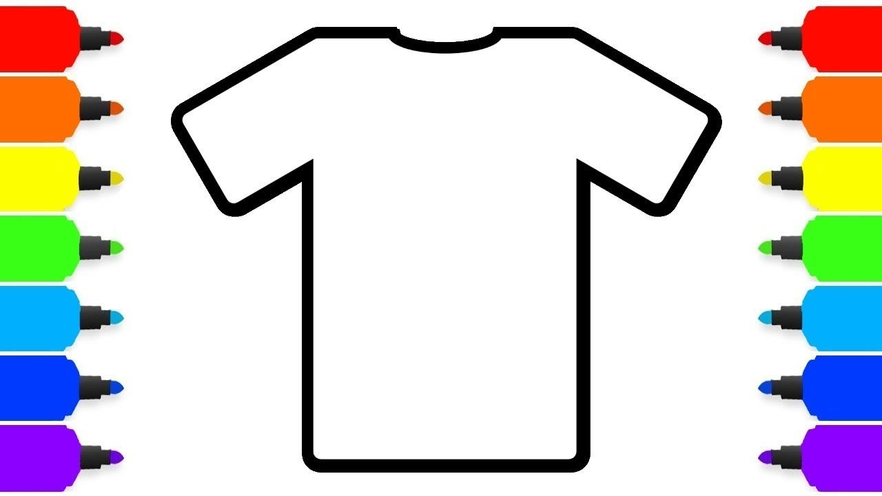 1280x720 How To Color T Shirt Learn Colors Drawing And Coloring Pages