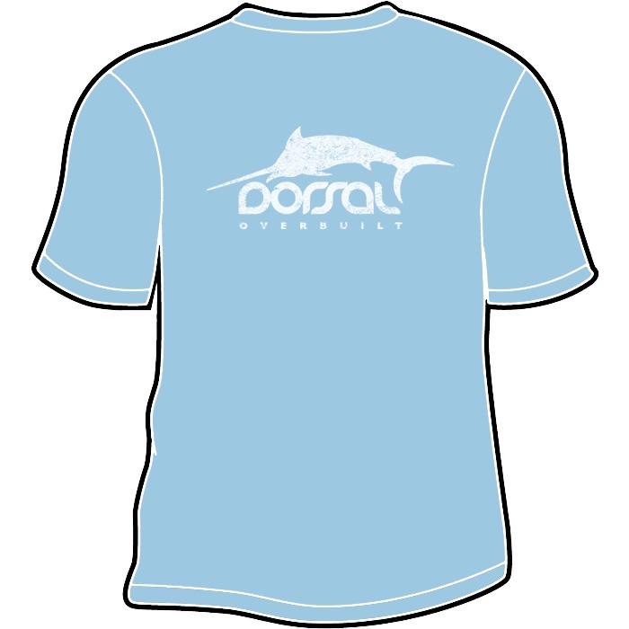 700x700 Men's Distressed Logo Tshirt Blue Dorsal Brand Gear