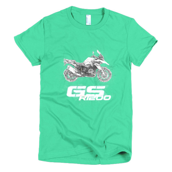 600x600 Passion R1200gs Drawing Short Sleeve Women's T Shirt Tee Moto.d