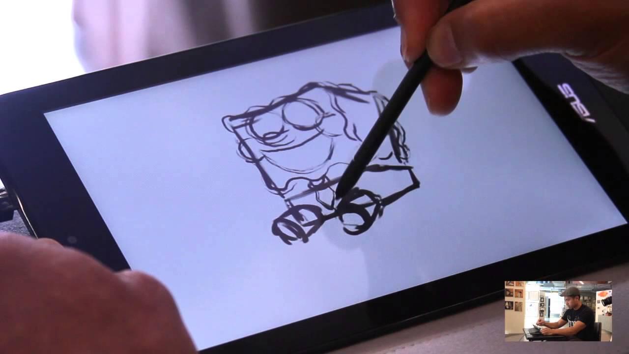 1280x720 Asus Vivotab Note 8 M80ta Tablet Drawing With Mike Borja