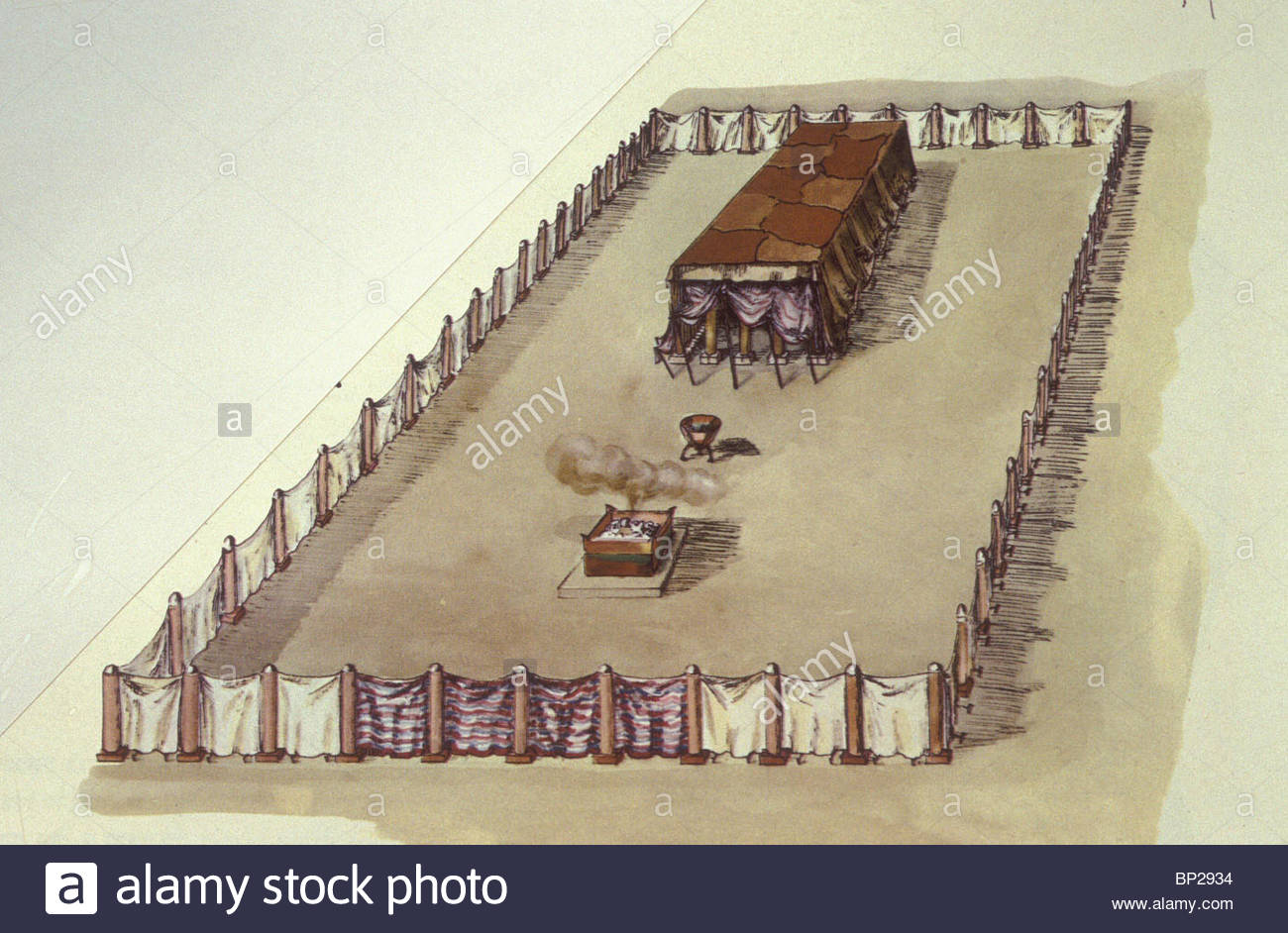 1300x942 Drawing The Reconstruction The Tabernacle The Tent