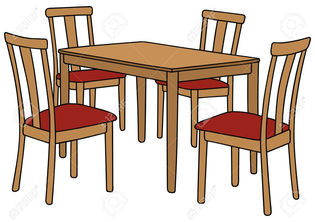 Beau 1300x918 Best Table And Chairs Drawing Pictures