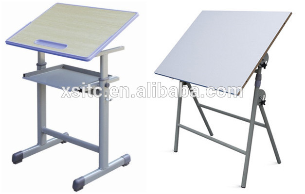 627x400 Student Double Foldable Drawing Table And Chair
