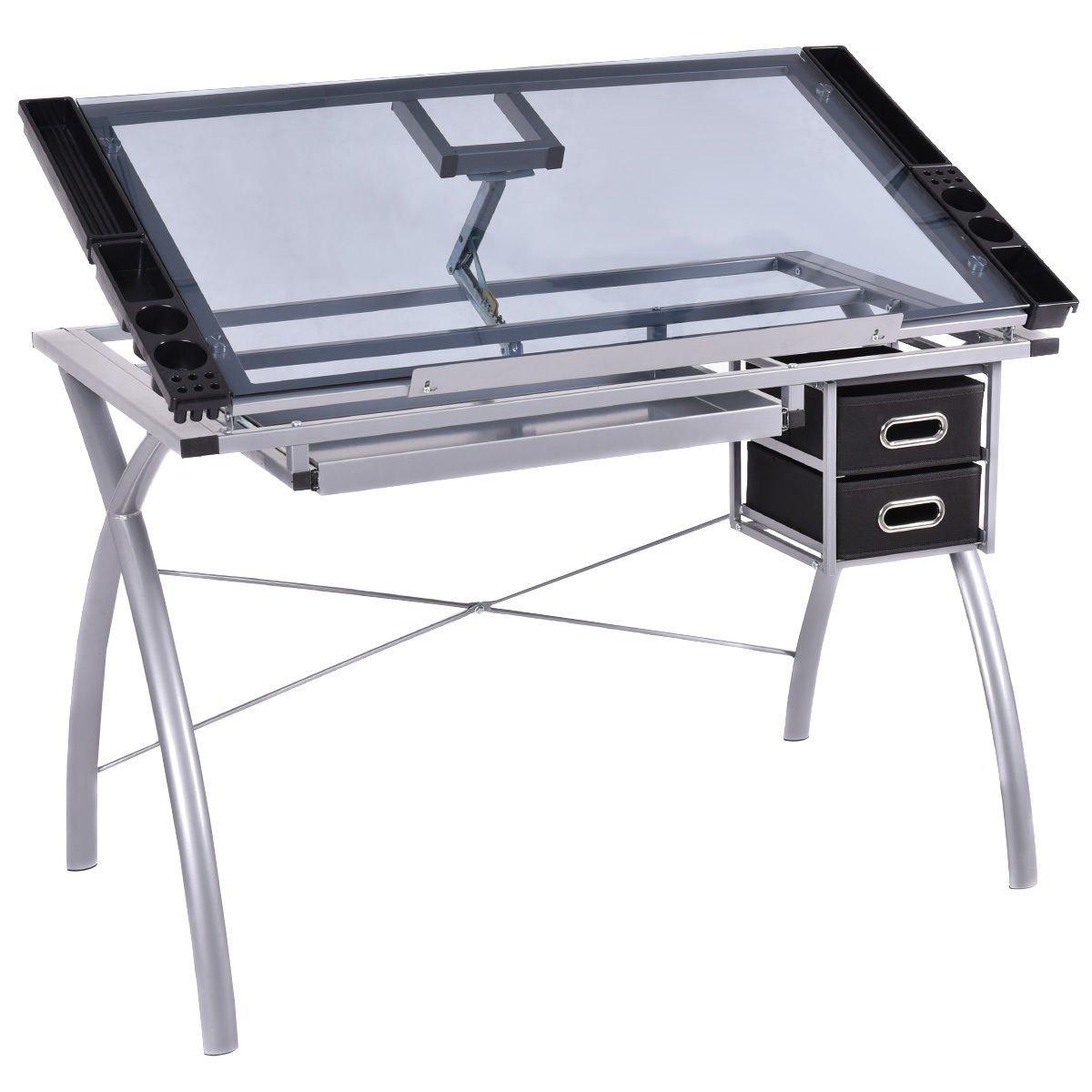 1200x1200 Tangkula Adjustable Drawing Desk Drafting Table