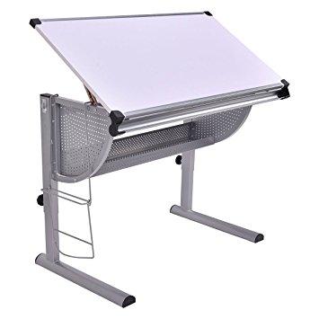 355x355 Tangkula Drafting Table Drawing Desk Adjustable Art