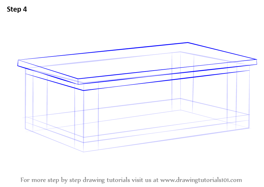 842x596 Learn How To Draw A Coffee Table Furniture Step By
