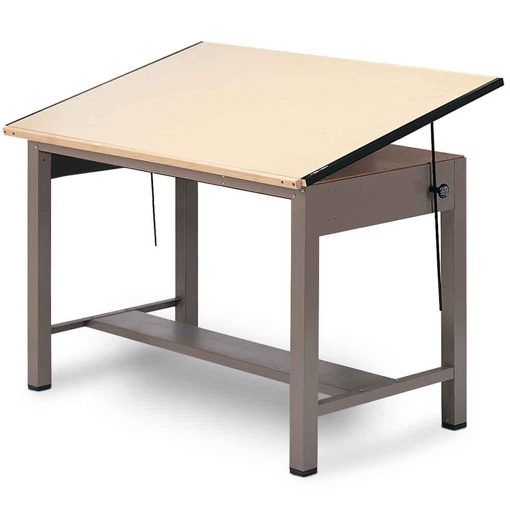 1000x1000 Mayline 37.5 X 72 Ranger 4 Post Drafting Table (7737, 7737a, 7737b)