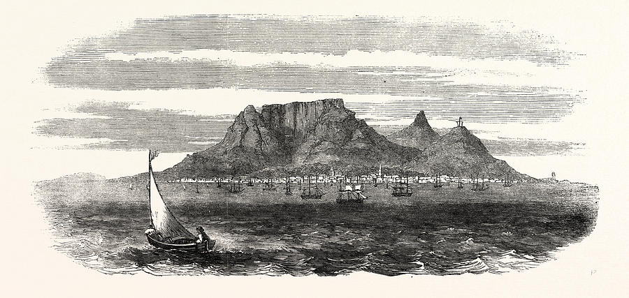 900x427 Table Bay And Table Mountain, Cape Of Good Hope Drawing By English