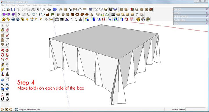 720x385 Make A Tablecloth In Sketchup Sketchup 3d Rendering Tutorials