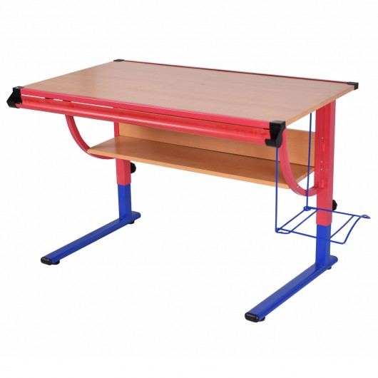530x530 Adjustable Wooden Drafting Table Workstation Drawing Desk