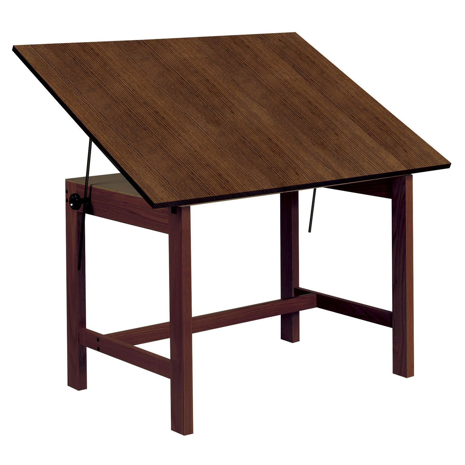 overstock studio topped designs ponderosa top wood tables sewing crafts table solid free product drafting today shipping glass frame