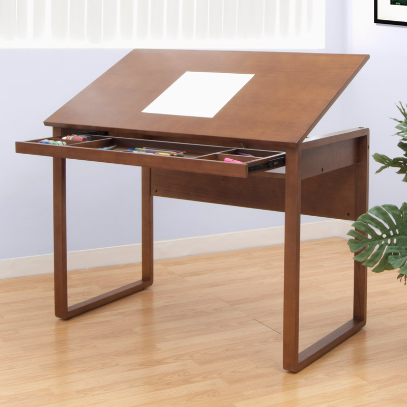 800x800 Studio Designs Ponderosa 24 X 42 Wood Drawing Table 13285