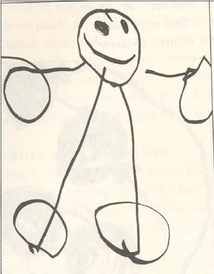 431x550 Human Drawn By A Child Aged 3. From Winner (1996).