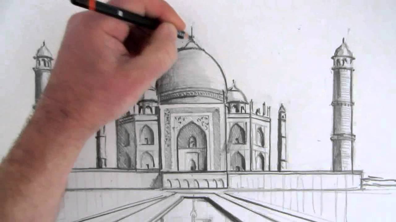 1280x720 How To Draw The Taj Mahal Narrated Step By Step