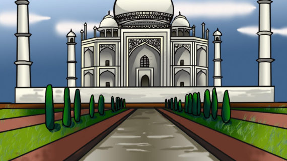 570x320 Monuments Of India Drawing How To Draw The Taj Mahal, Step By Step