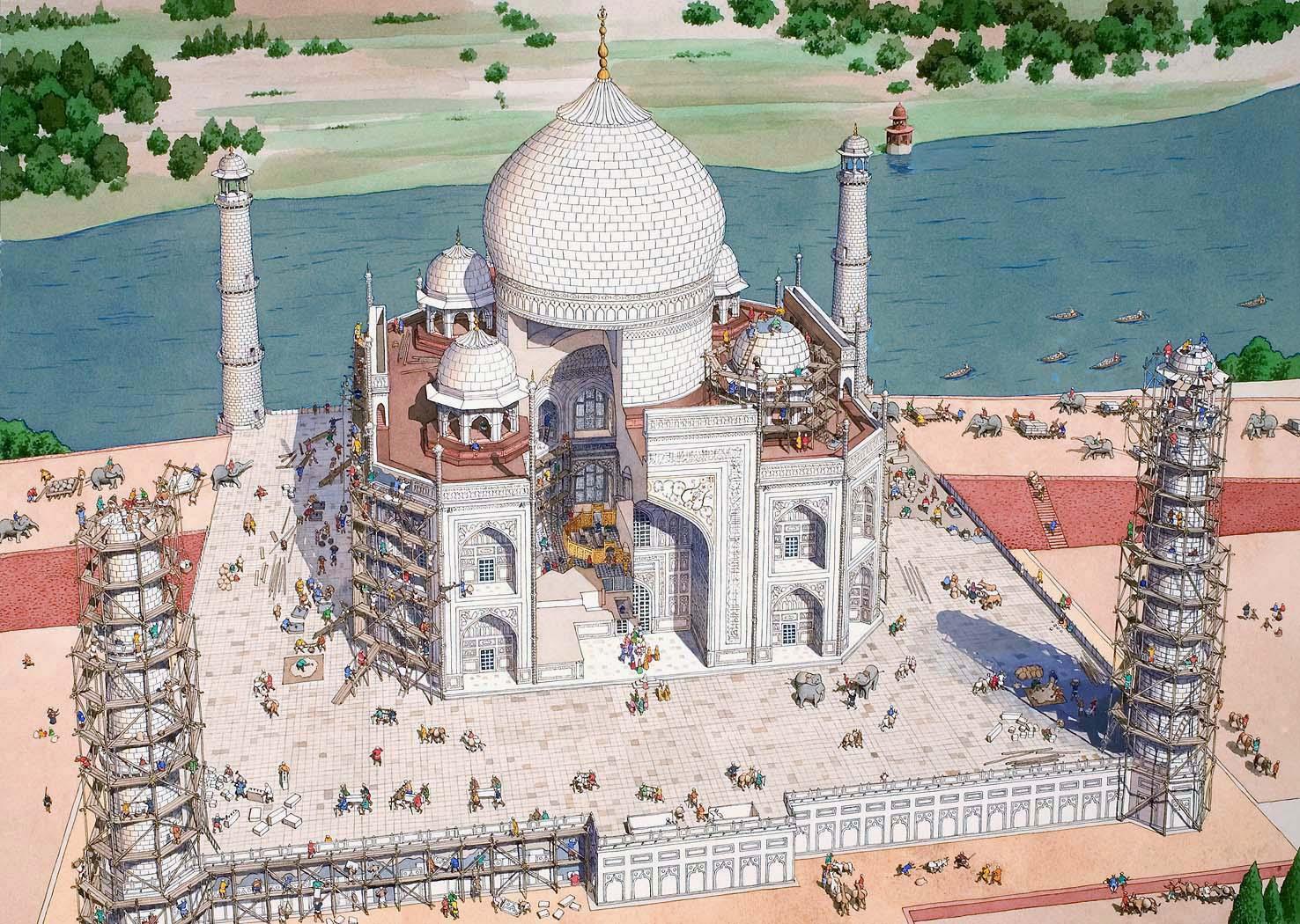 Tajmahal Drawing at GetDrawings.com | Free for personal use Tajmahal ...