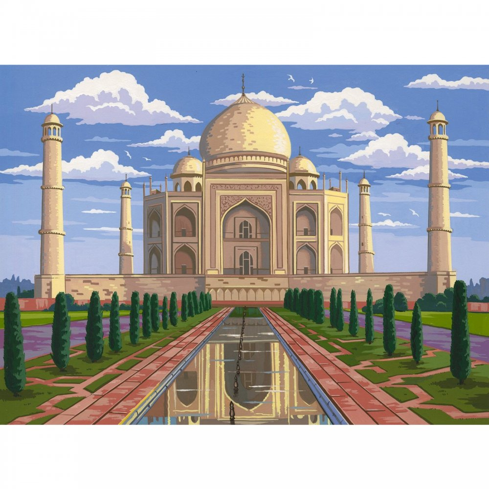 1000x1000 taj mahal large paint by numbers