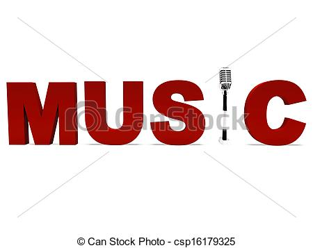 450x357 Music Word And Mic Shows Talent Show Or Concert. Music Word