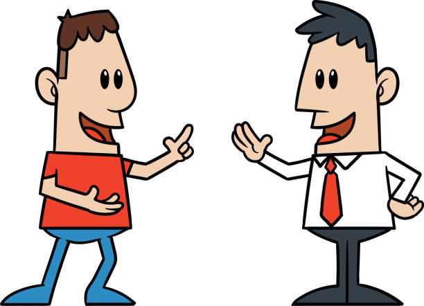 612x442 Two Guys Talking Clipart