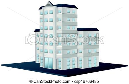 450x292 Architecture Design For Tall Building Illustration Vector