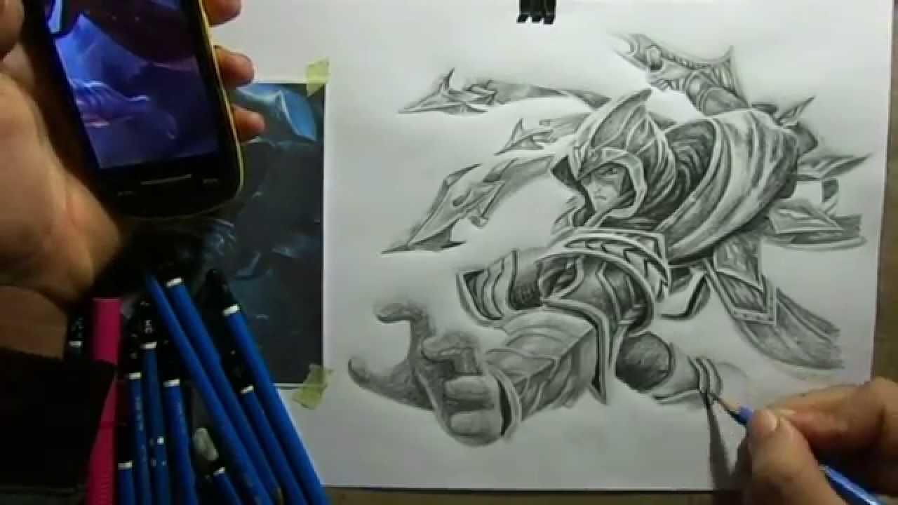 1280x720 Pencil Drawing Talon (Step By Step)