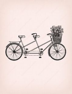 236x306 Tandem Bicycle Drawing. Looks Just Like The One We Had When I Was