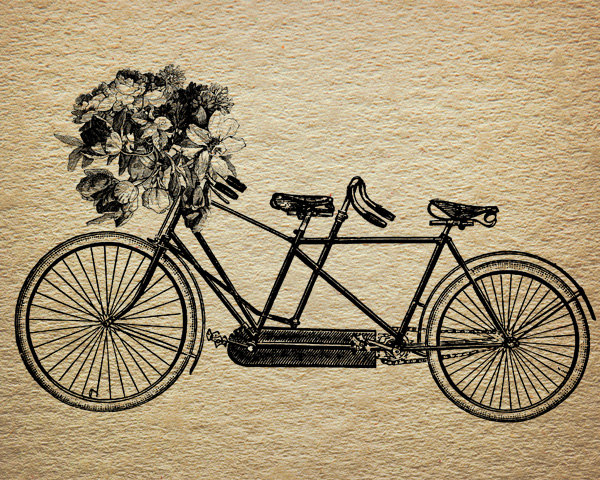 600x480 Tandem Bicycle Flower Bouquet Victorian By Downloadinspiration