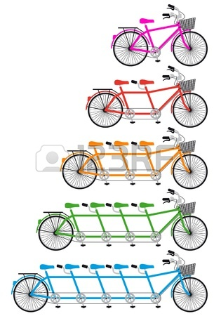315x450 Wedding Set, Bride And Groom On Tandem Bicycle, Graphic Design