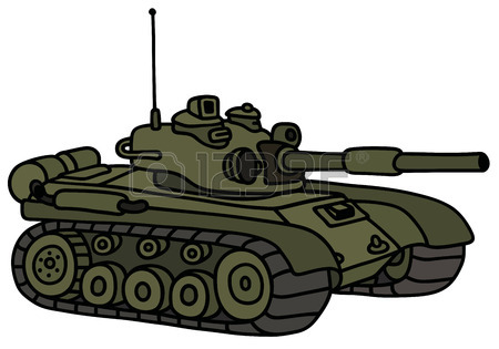 450x315 Hand Drawing Of A Funny Sand Tank Royalty Free Cliparts, Vectors
