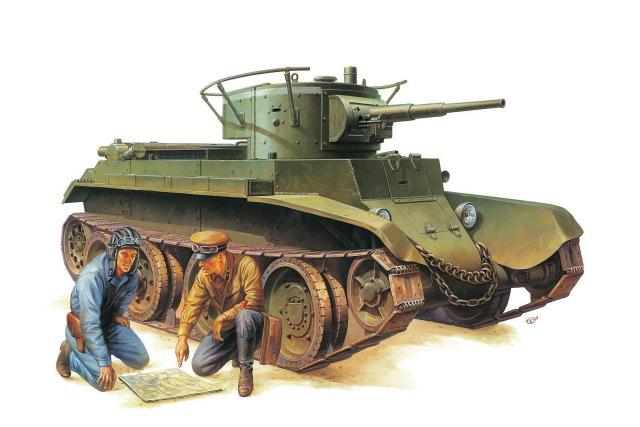 640x427 Home Decoration War Art Bt 7 Soviet Light Tank Tank Drawing Silk