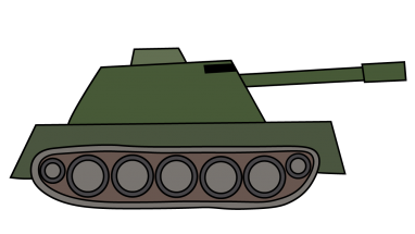 382x215 How To Draw A Tank, Vehicle, War, Easy Step By Step Drawing Tutorial