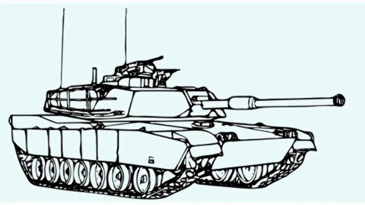 1280x720 How To Draw A War Tank