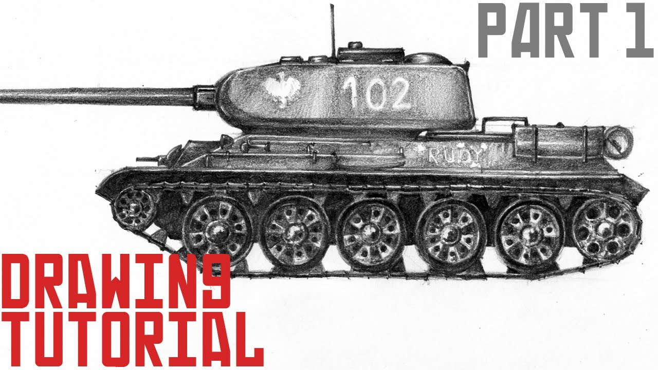 1280x720 How To Draw Tank T 34