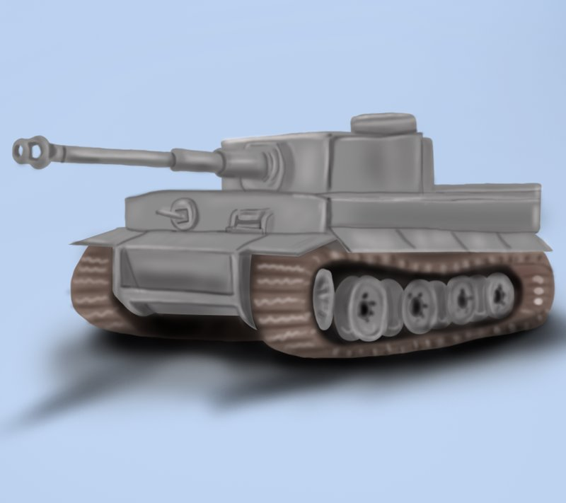 800x711 Learn How To Draw A Tiger Tank (Military) Step By Step Drawing