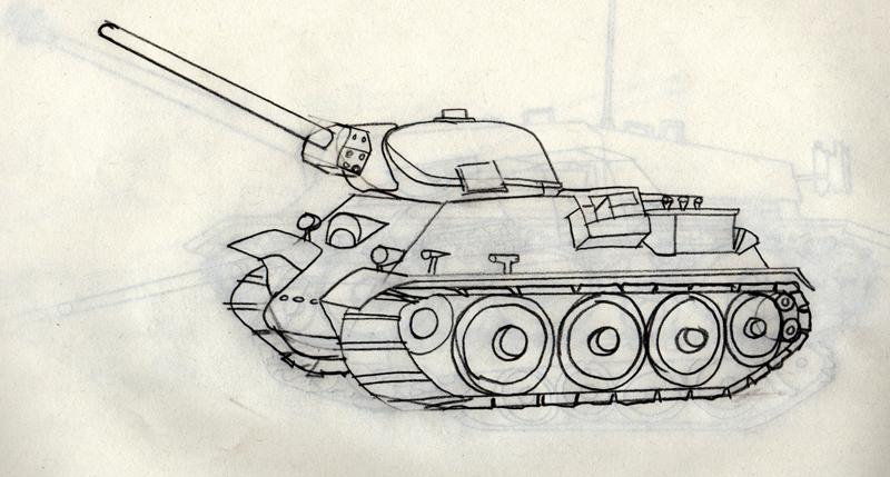 800x429 War Tank Drawing (Id 105701) Buzzerg