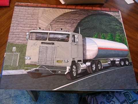 480x360 Drawing 1971 White Freightliner Cabover Tanker Truck By Elton