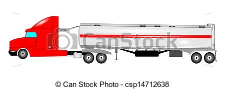 450x179 Oil Tank Truck. Tanker Truck For Carrying Oil Or Water Drawings