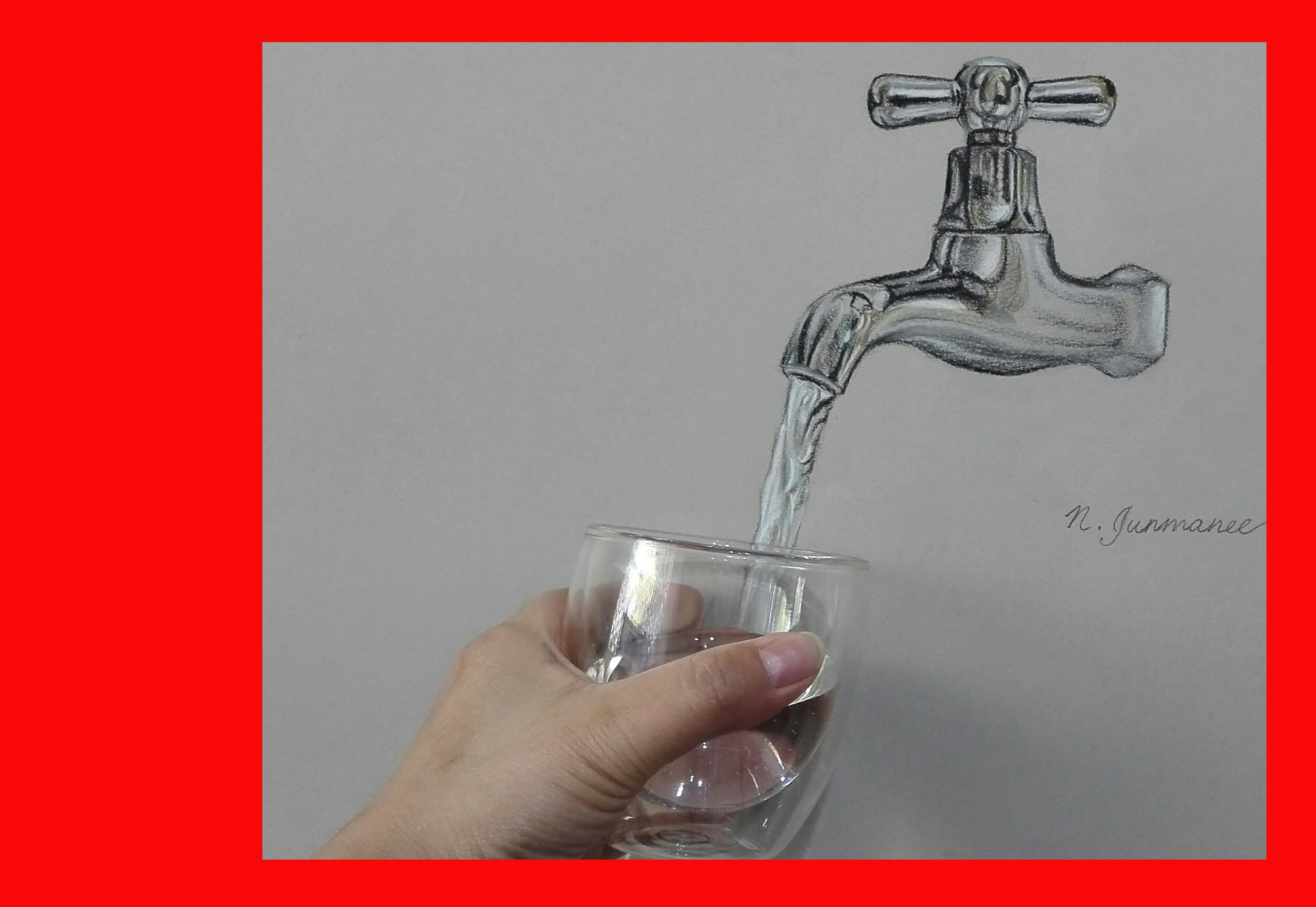 2498x1722 Realistic Drawing Water Tap