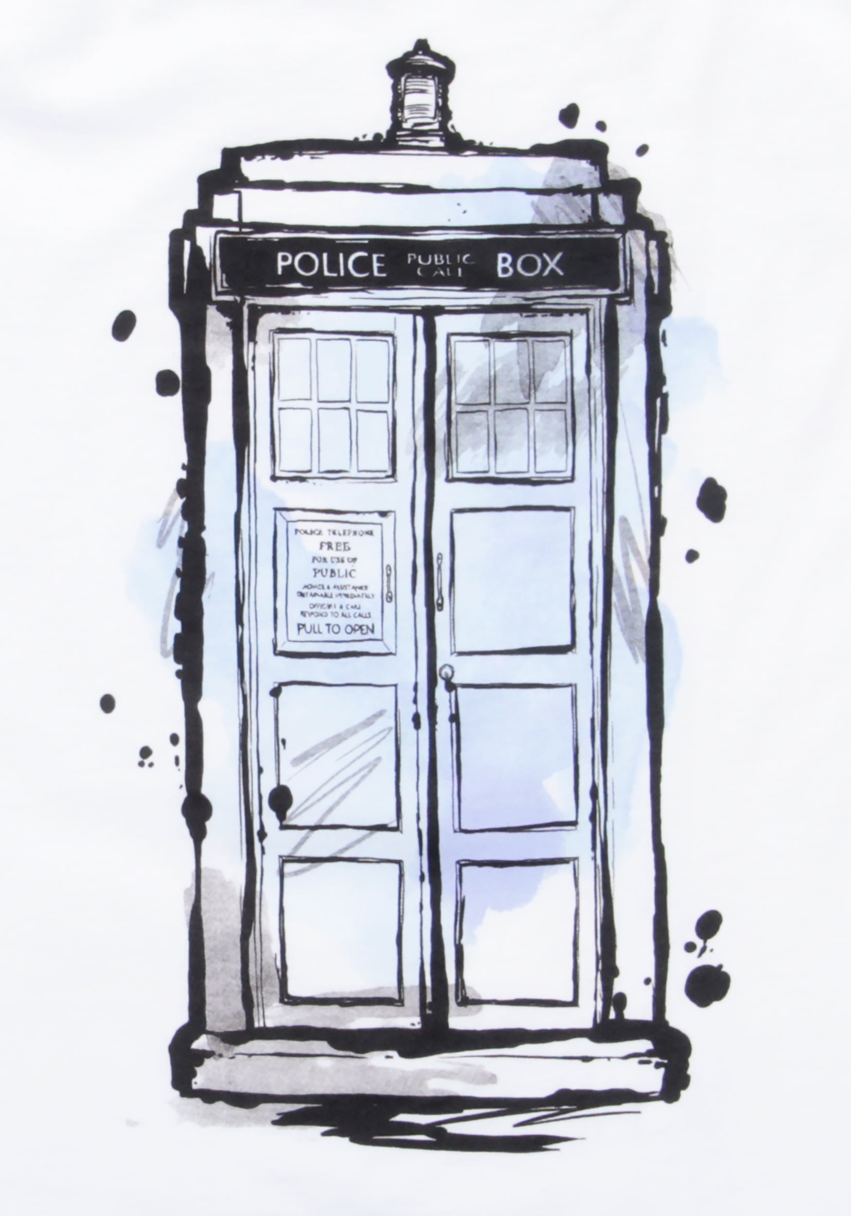 1750x2500 Doctor Who Water Color Tardis Men's T Shirt
