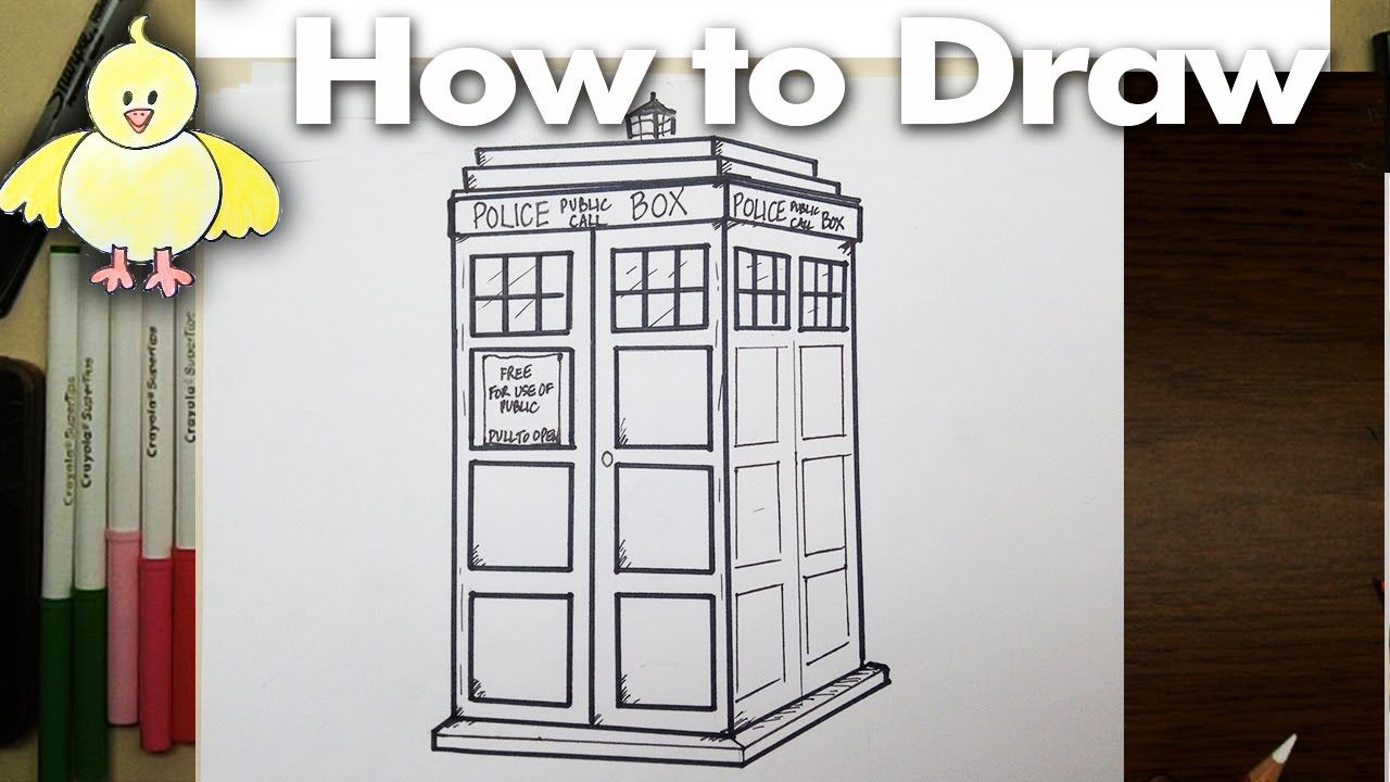 1280x720 Drawing How To Draw A Tardis Step By Step