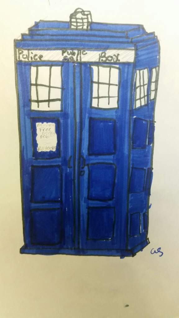 576x1024 Here Is A Quick Drawing Of A Tardis! Doctor Who Amino