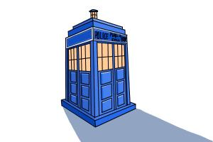 300x200 How To Draw The Tardis