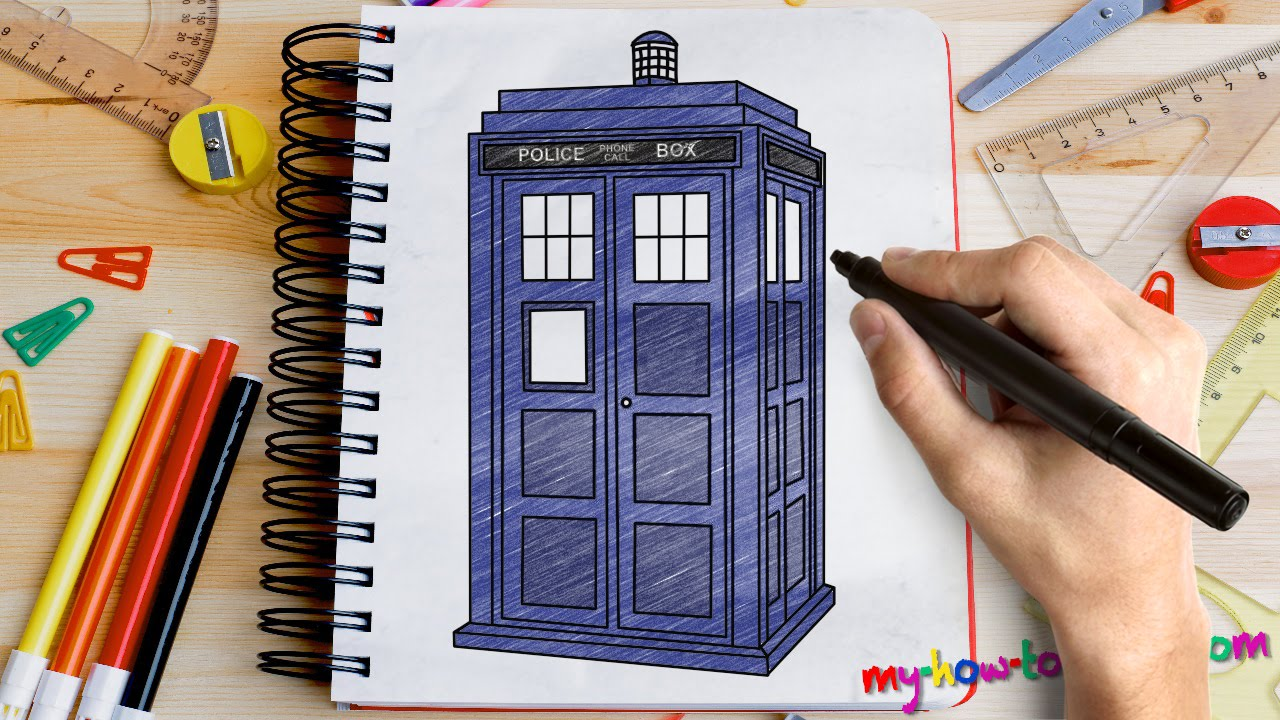 1280x720 How To Draw Tardis From Doctor Who