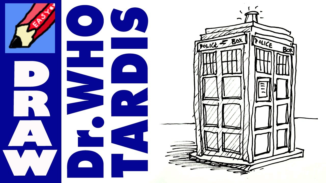1280x720 How To Draw The Tardis Real Easy