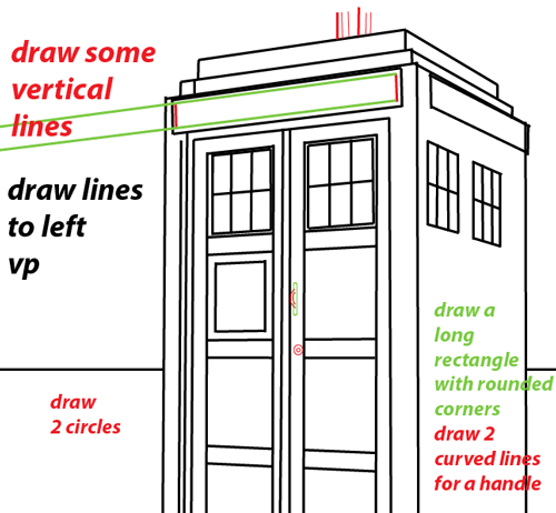 500x462 Step 9 Drawing Tardis From Doctor Who Easy Steps Lesson Dr