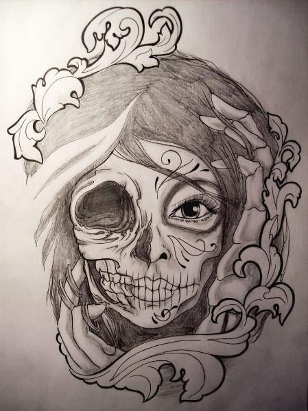 449x600 Catrina Drawing Sketch