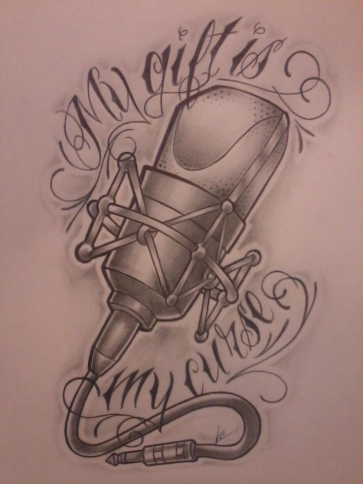 720x960 17+ Microphone Tattoo Drawings