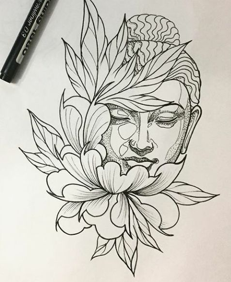 477x581 Buddha Tattoo Drawing elaxsir