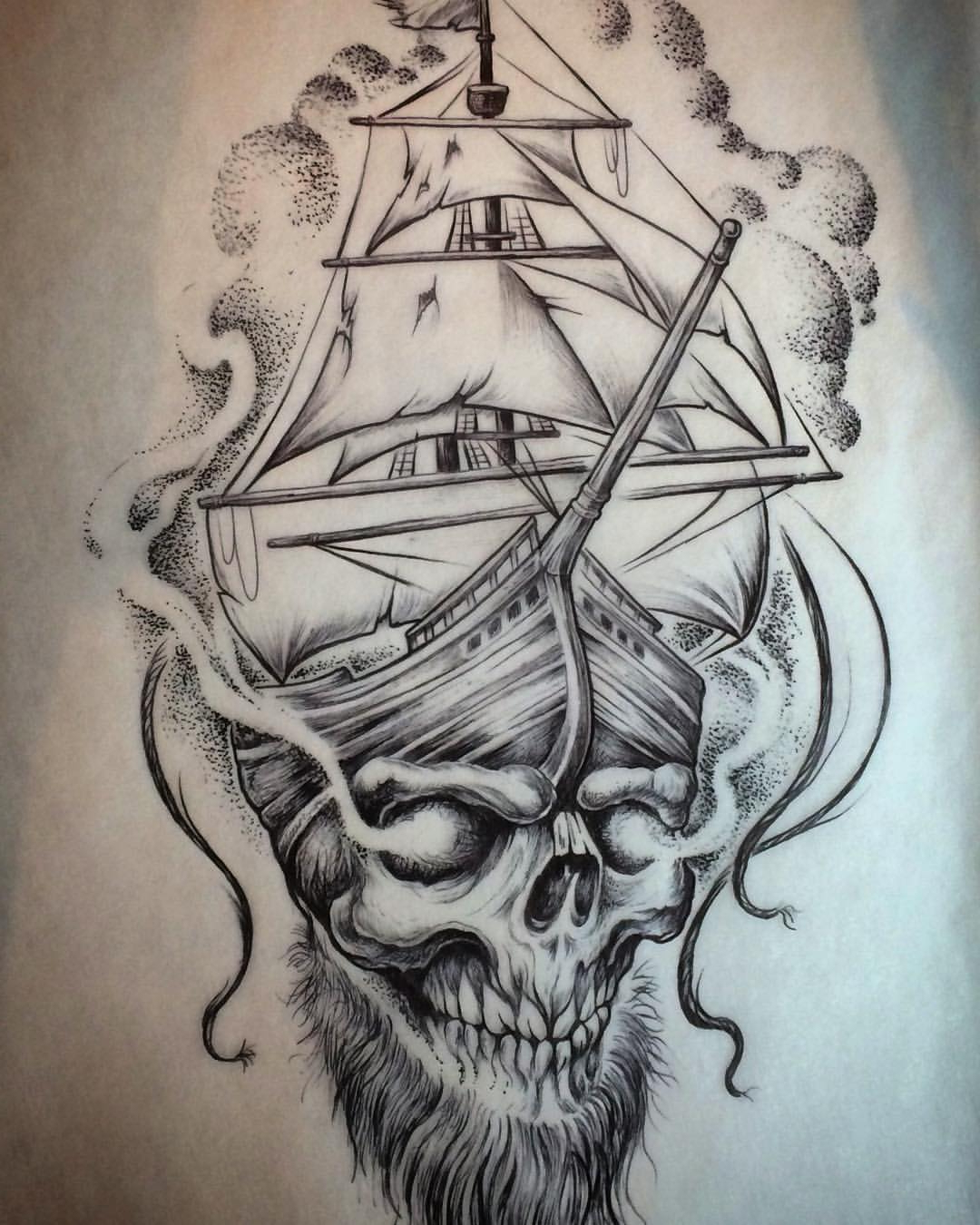 1080x1350 Pirate Ship Tattoo Drawing Traditional Pirate Ship Tattoo Design