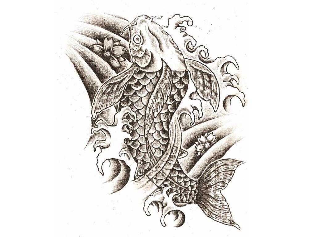 1024x768 Koi Fish Tattoo Designs Ideas Japanese Koi Fish Tattoo Drawing